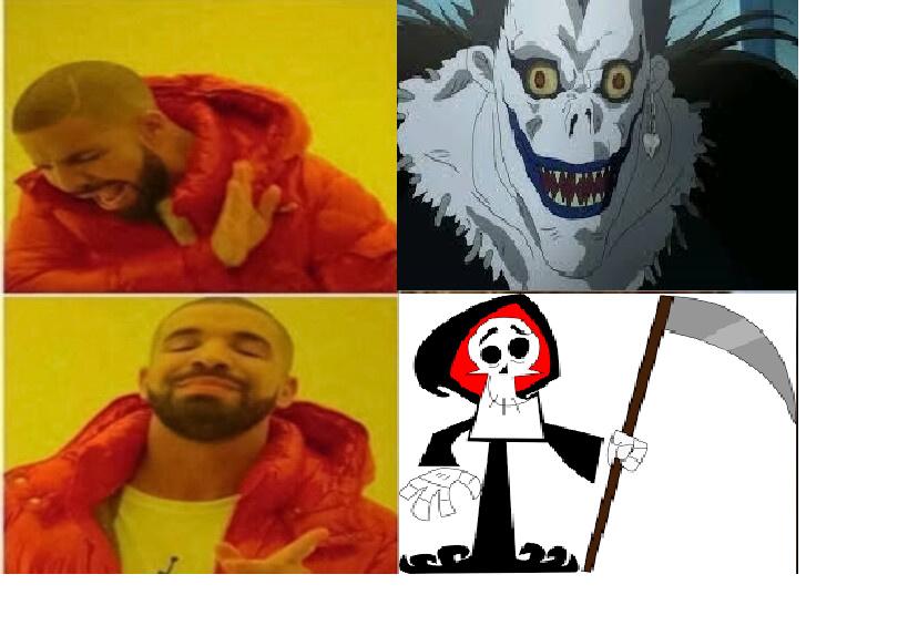 O verdadeiro shinigami - meme