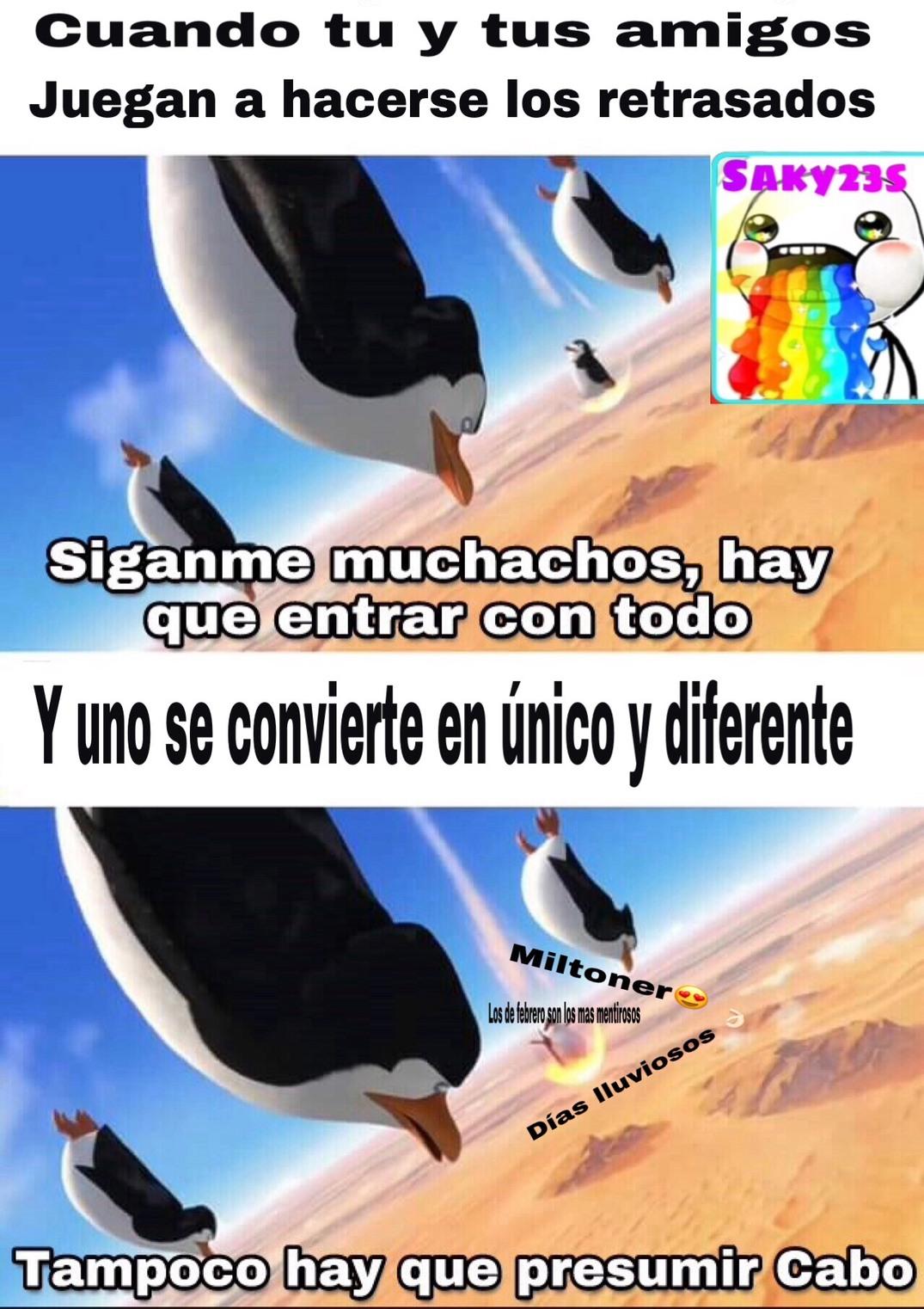 unicas y diferentes - meme
