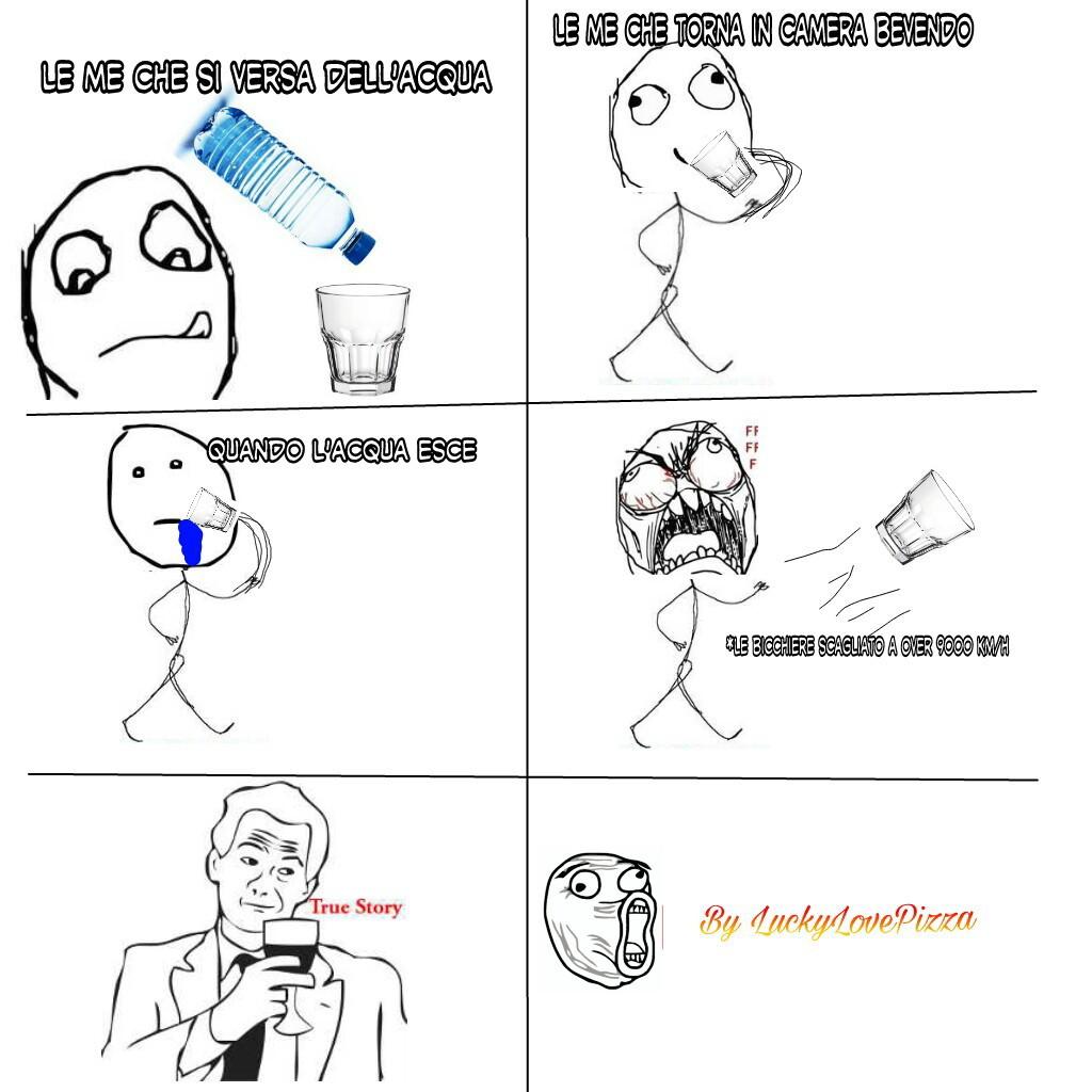Bicchiere trolloso - meme