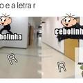 o chao e a letra r