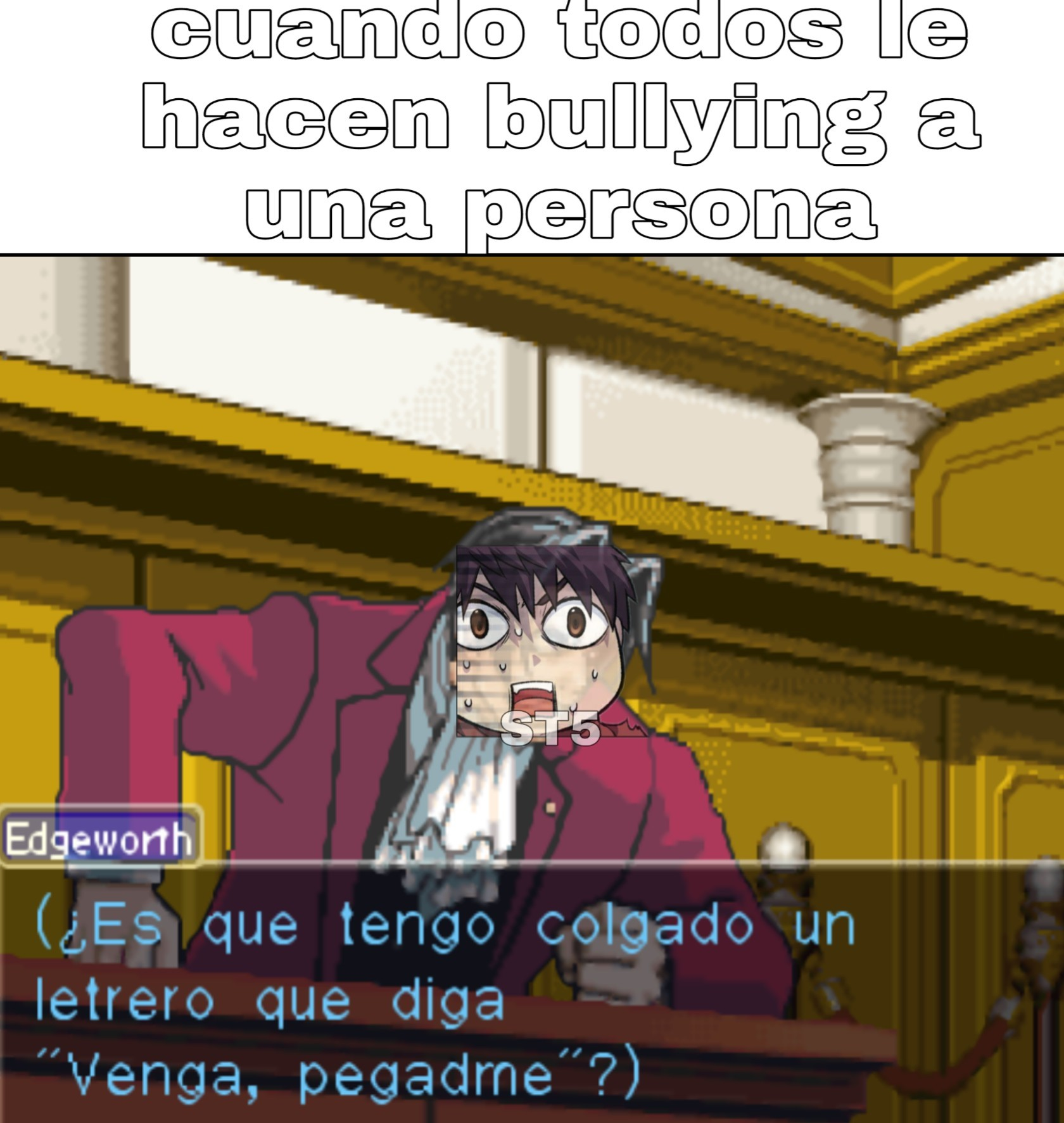 Juego: Phoenix wright ace attorney trials and tribulations - meme