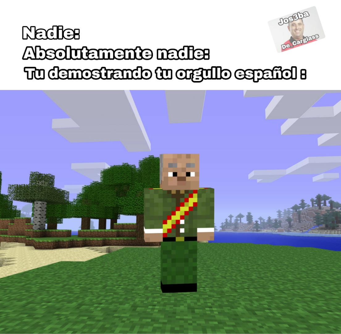 Minecraft español edition - meme
