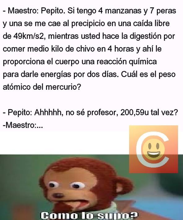 Peso Atómico - meme