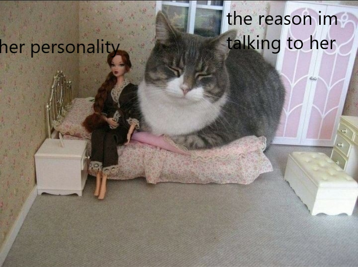 "to pet her ""cat"" - meme"