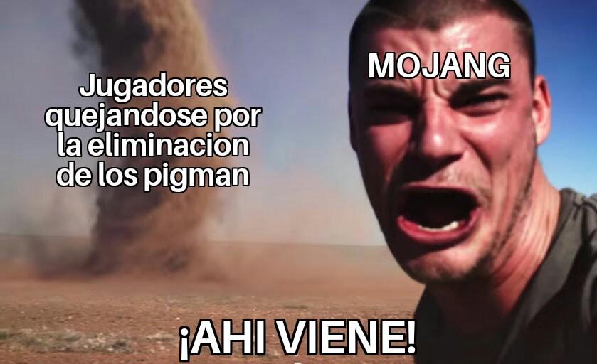 Hablo del minecraft - meme