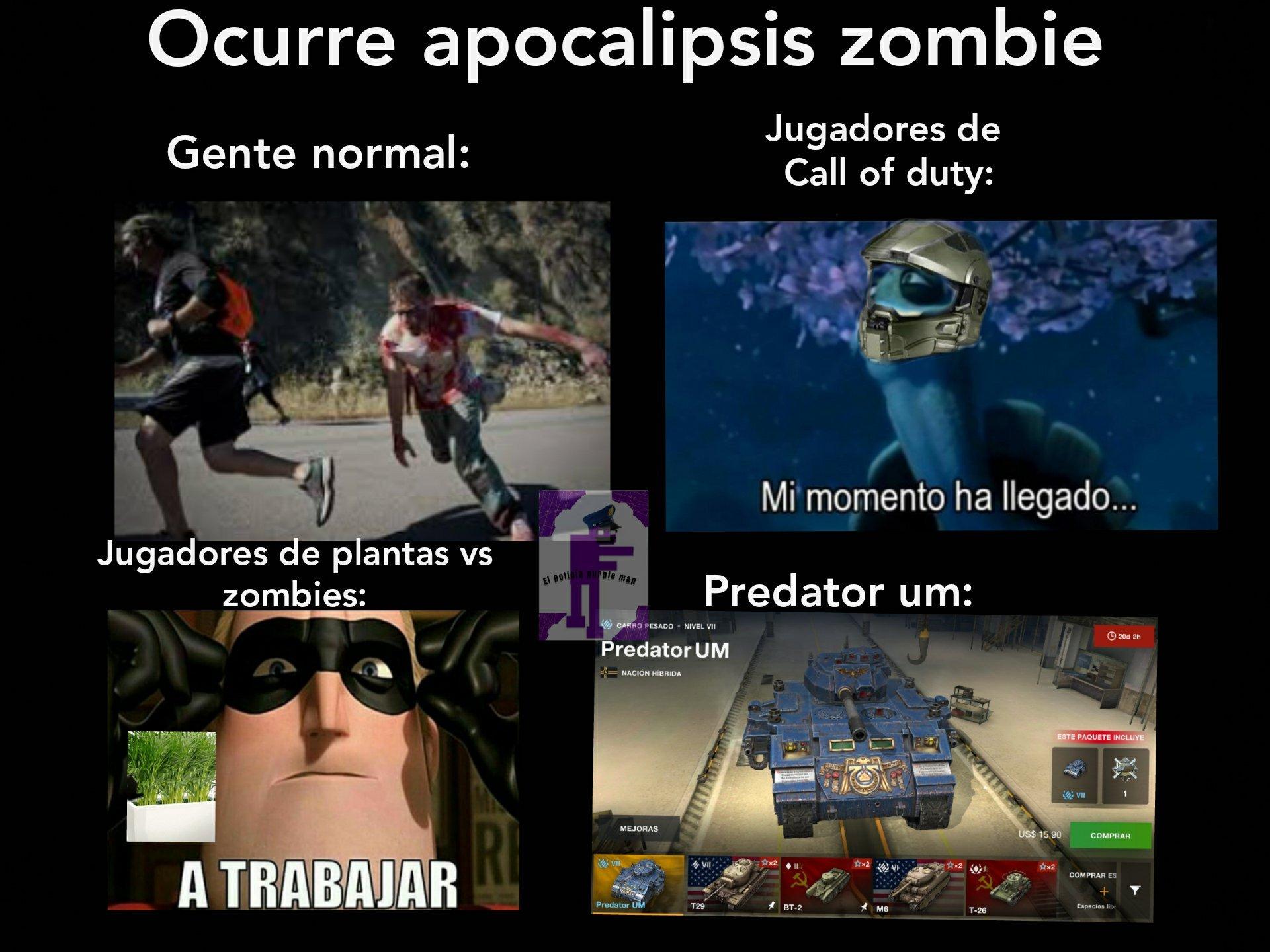 Título zombie - meme