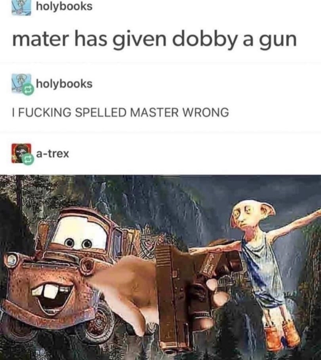 Dobby is a free elf - meme