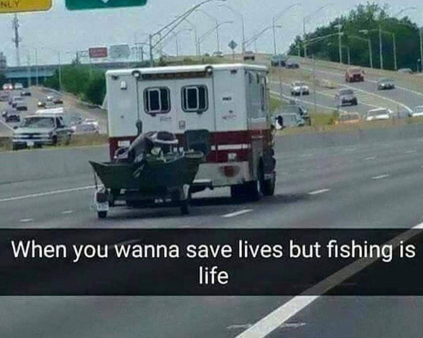 Fishing is life - meme