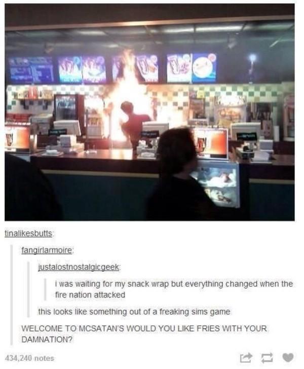 Last Burger Tosser - meme