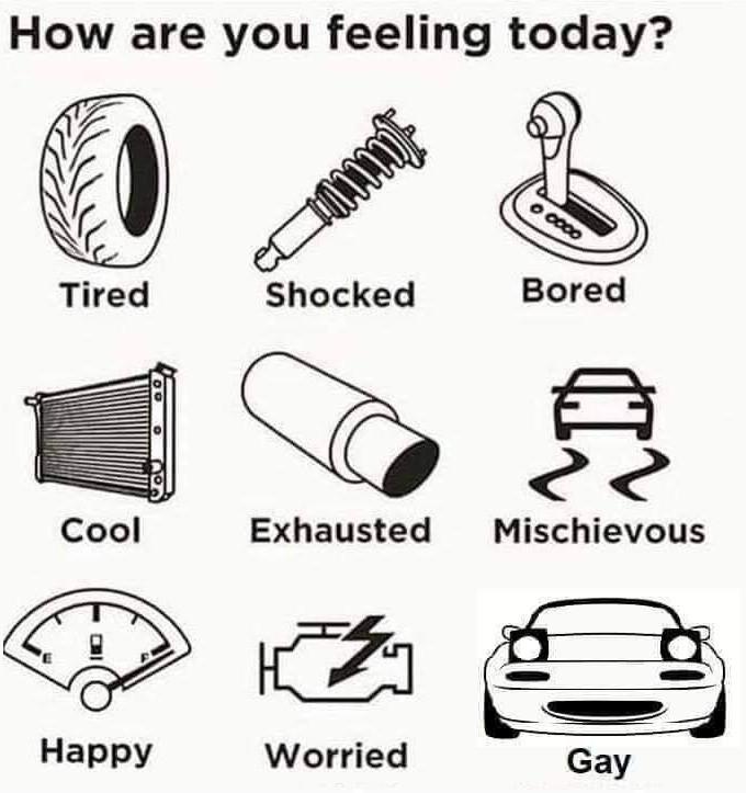 Emotion chart for mechanics - meme