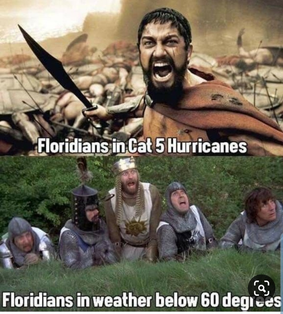 Floridians and weather - meme