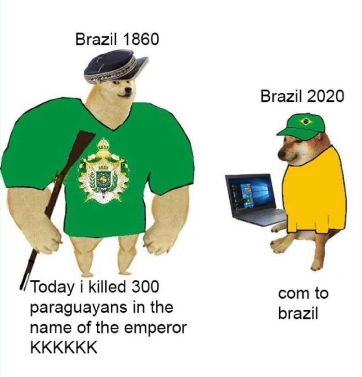 come to brazil vadia puta - meme