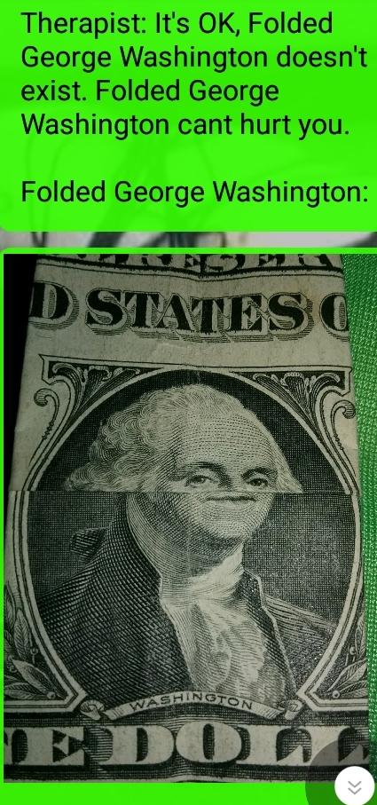 Folded President - meme