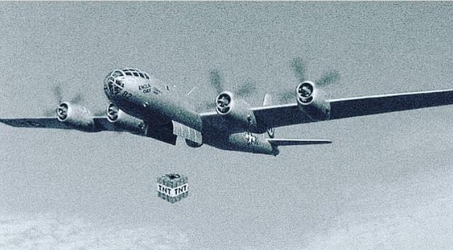 american bomber dropping a nuke on hiroshima - meme