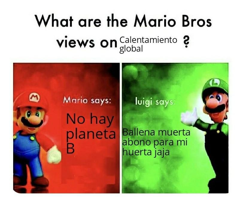 Luigi lleva razón - meme