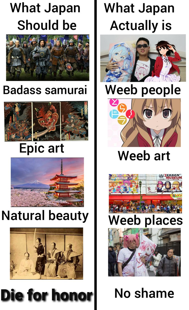 Japan need to go back in time - meme