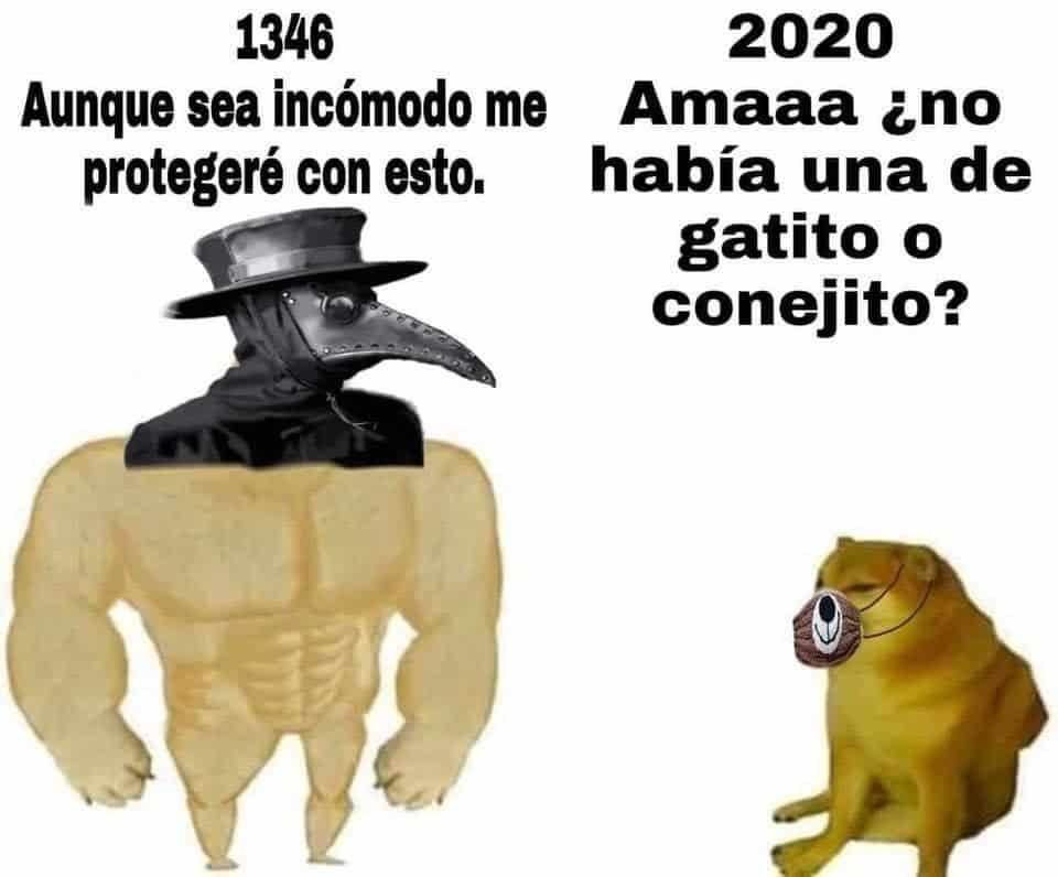 pesta negra vs covi d  19 - meme