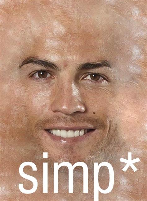 cr7 is simp - meme