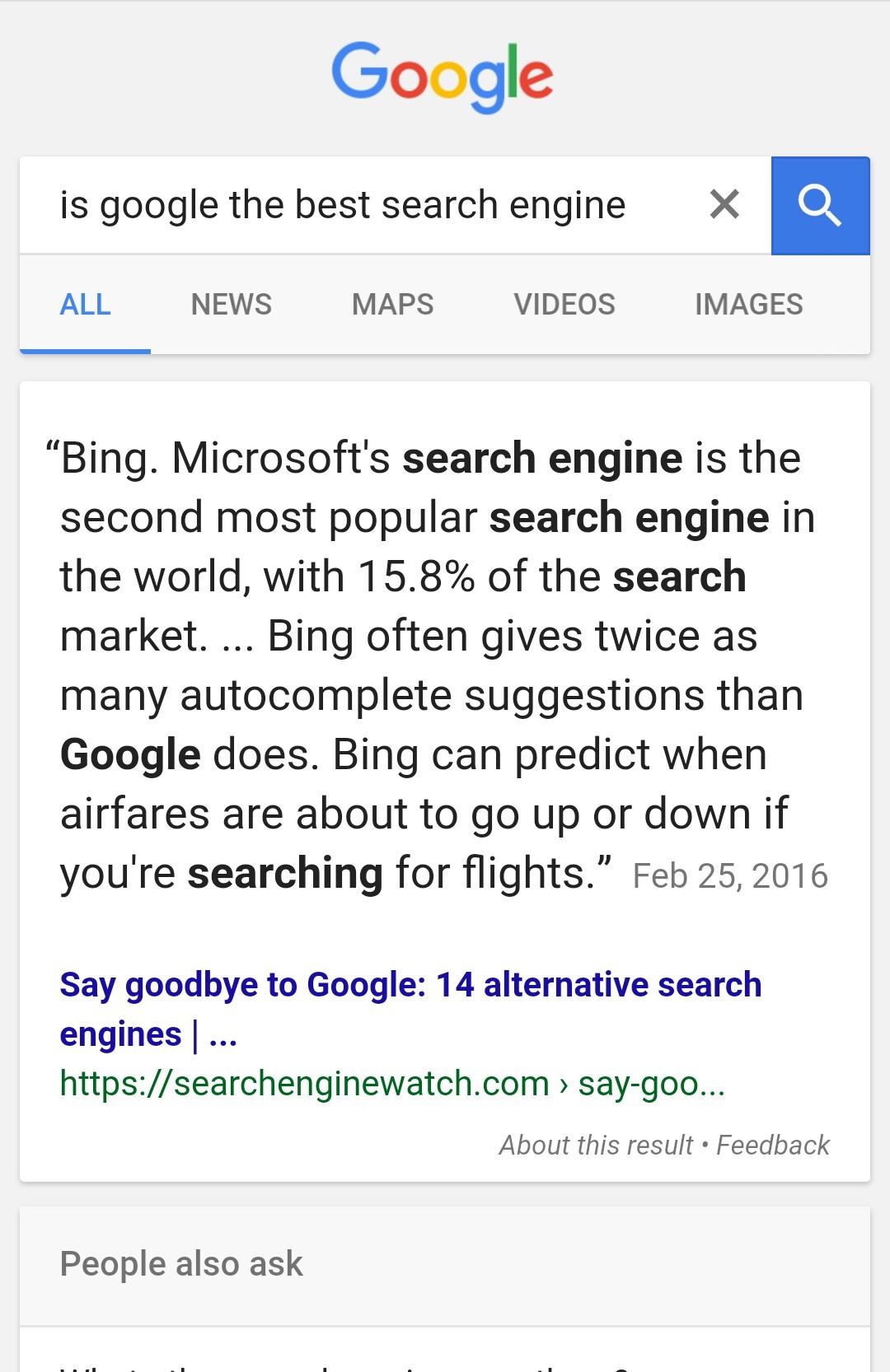 Google has low self esteem... - meme