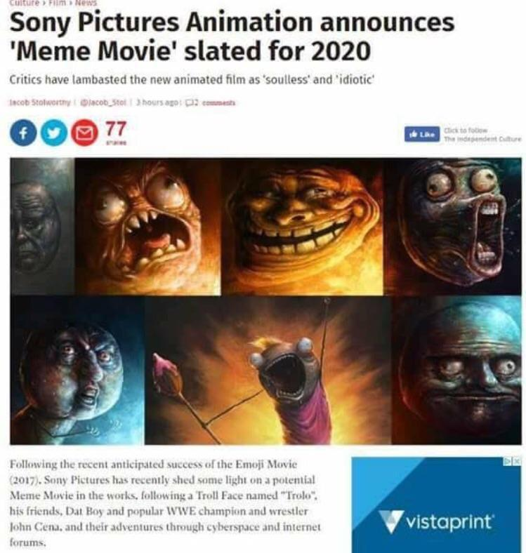 AH NÃO, DE NOVO NÃO (Eh dos mesmos caras que fizeram o filme do emojis - meme