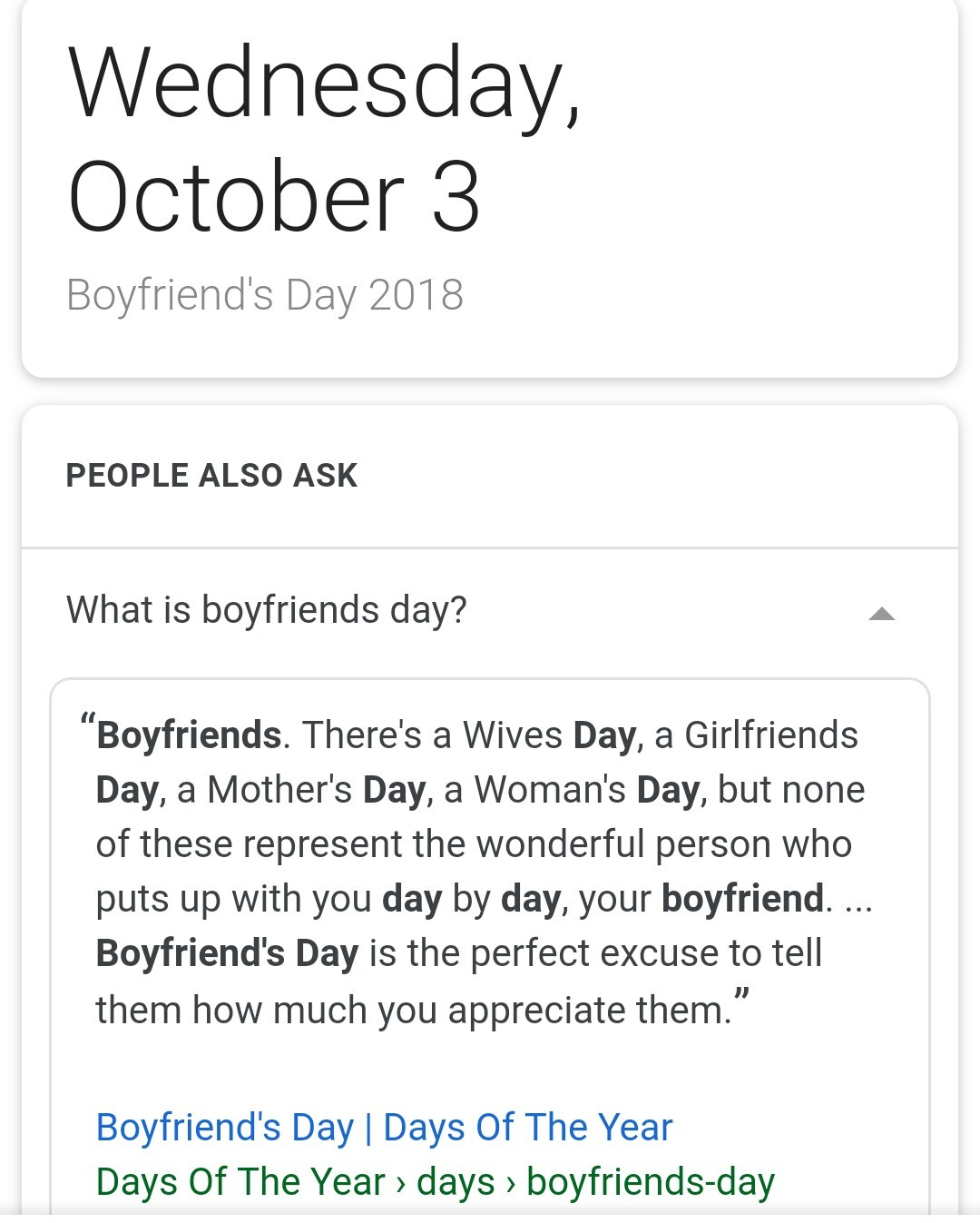 "For those of you who saw the ""gf day"" (8-1) meme"