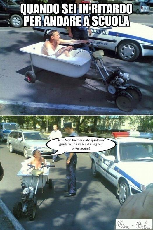 La vasca mobile - meme