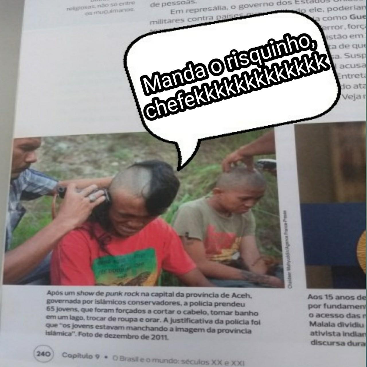 Dsclp qualidade ruim, vi no livro e fiz na aula Rapidão - meme