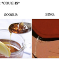 Google vs Bing: Cough edition