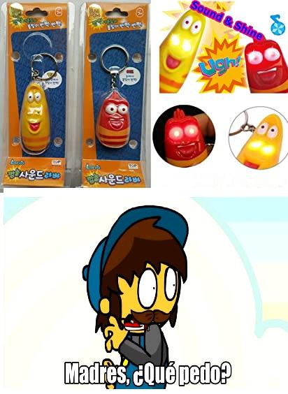 me traume al ver este juguete de larva - meme