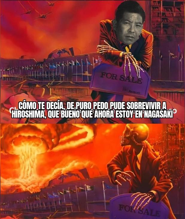 Momento Tsutomu Yamaguchi. PD: un poco tarde pero use la plantilla - meme