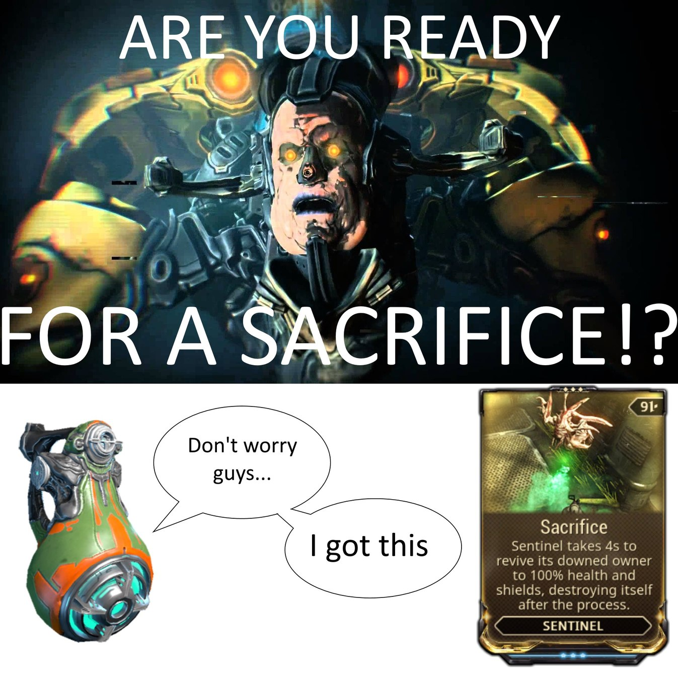 Sacrifice all the carriers - meme