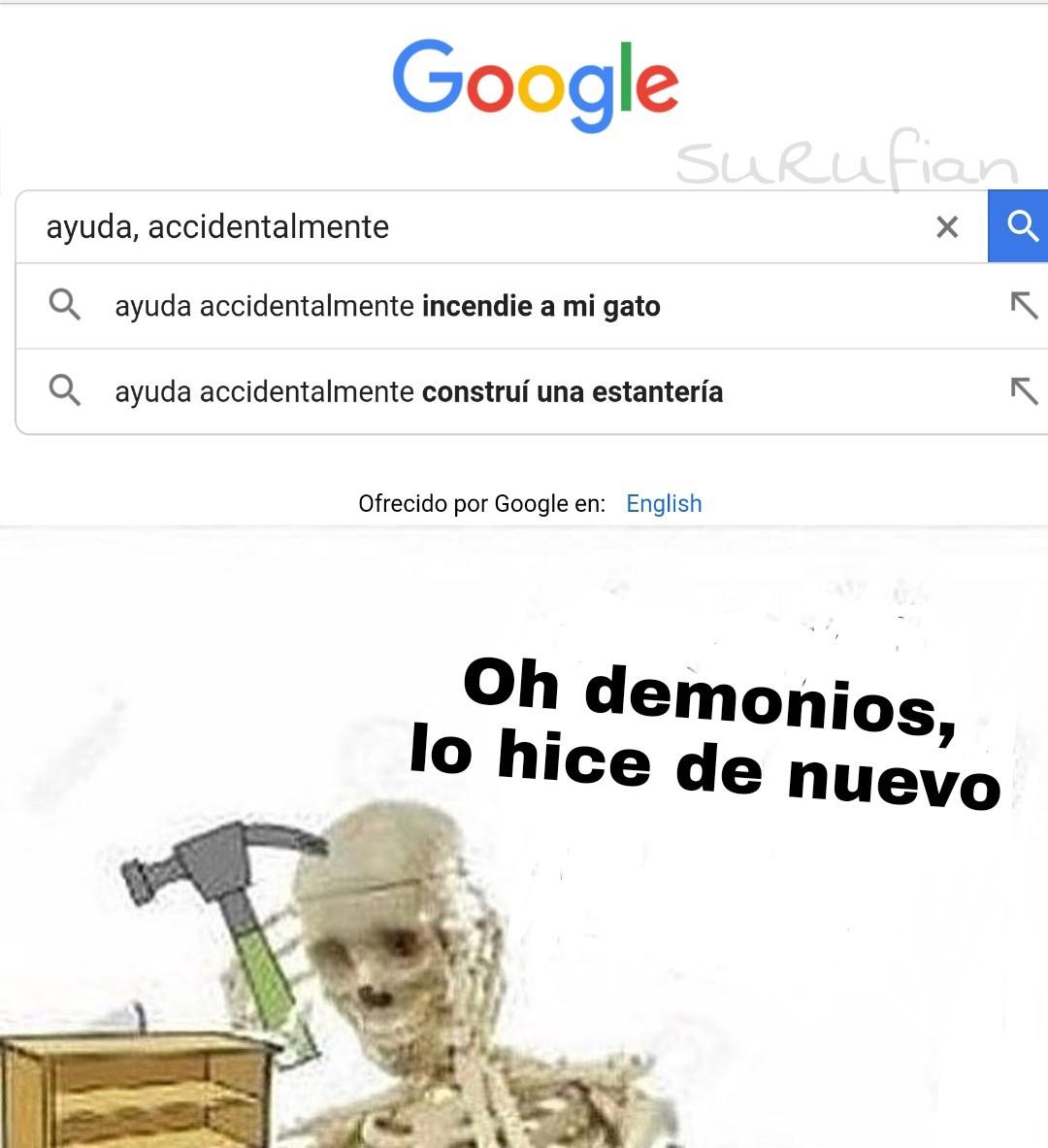 Demonios... - meme