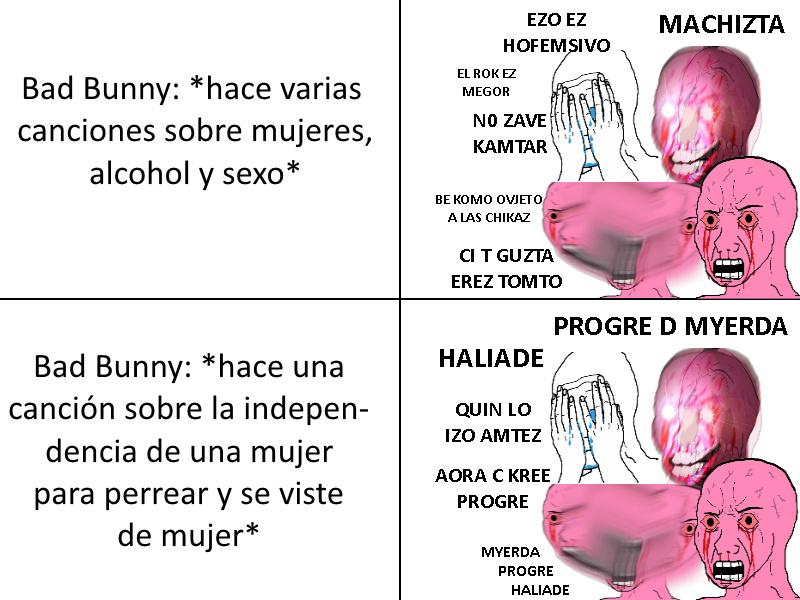 chad bunny - meme