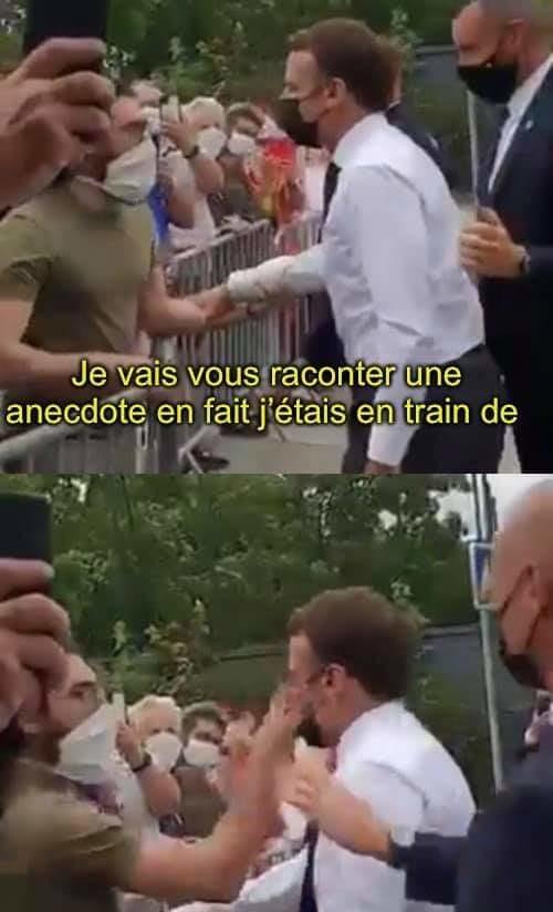 Macron giflé dans la Drôme - meme