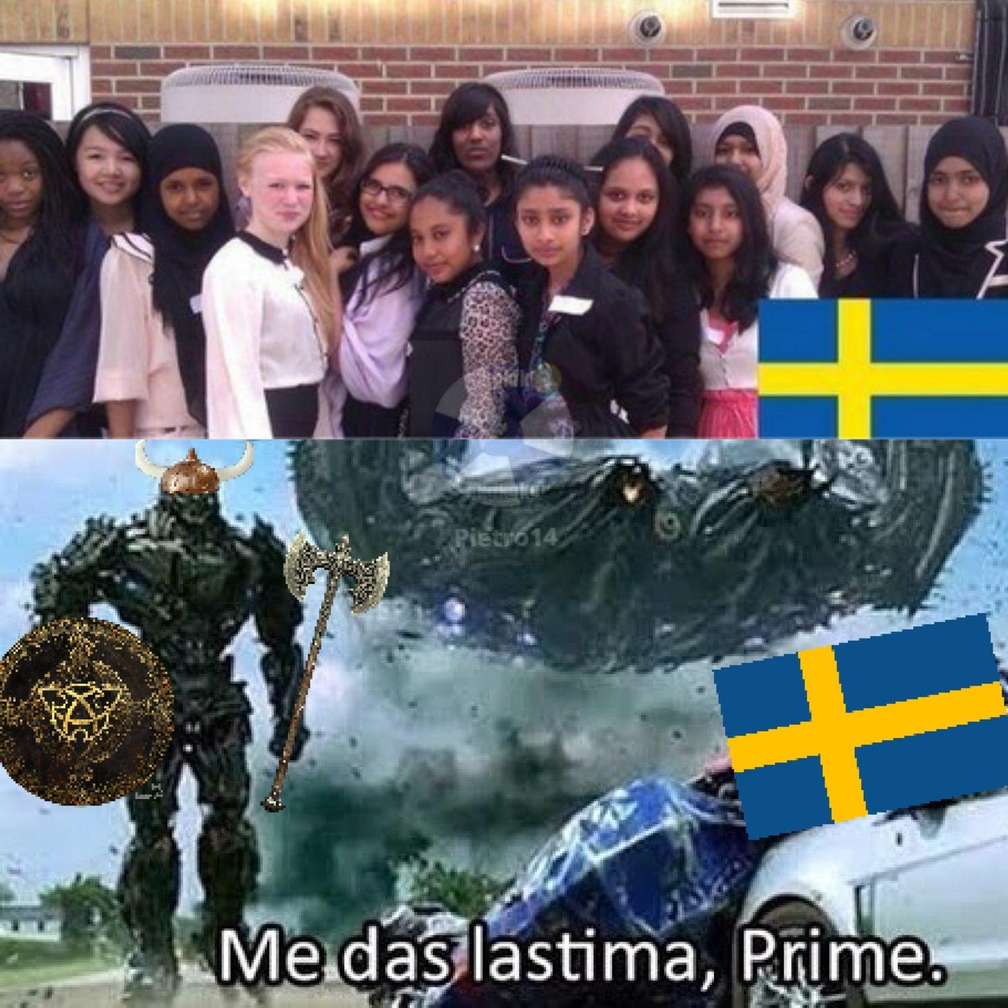 me das lastima suecia - meme
