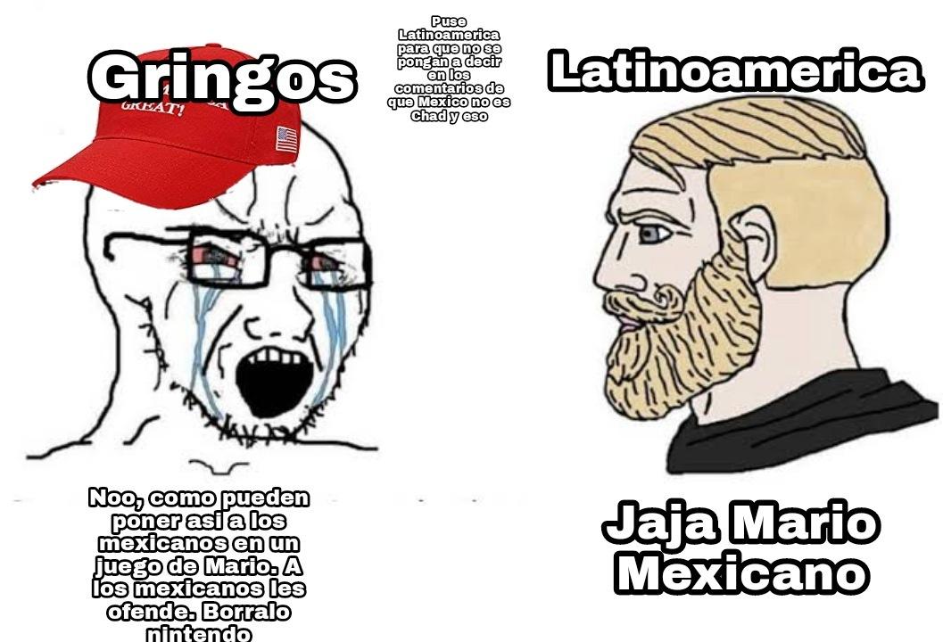 Los gringos se ofenden de cualquier mierda - meme