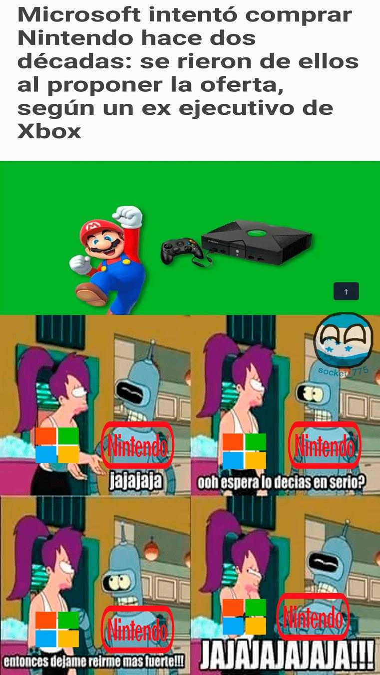 A Nintendo le gustó el chiste - meme