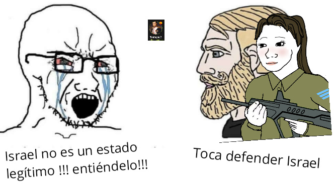 Toca defender Israel - meme