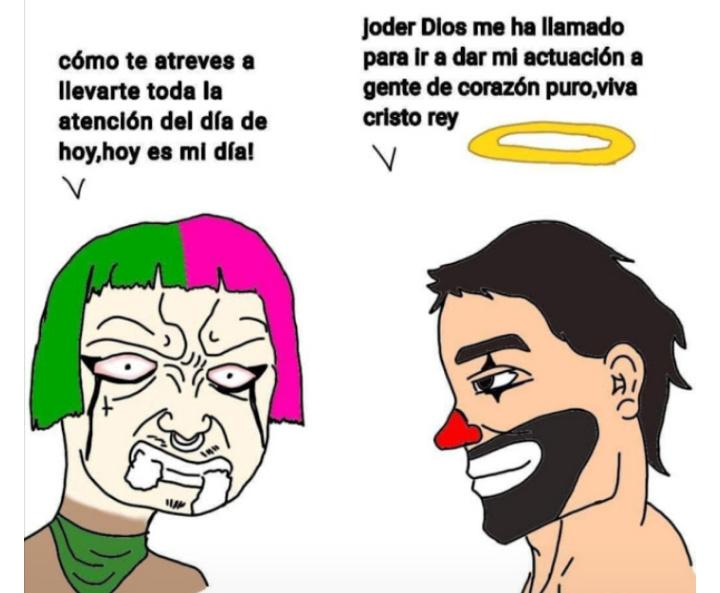 Primero Maradona y ahora Cepillín se encarga de joder a las feminazis. - meme