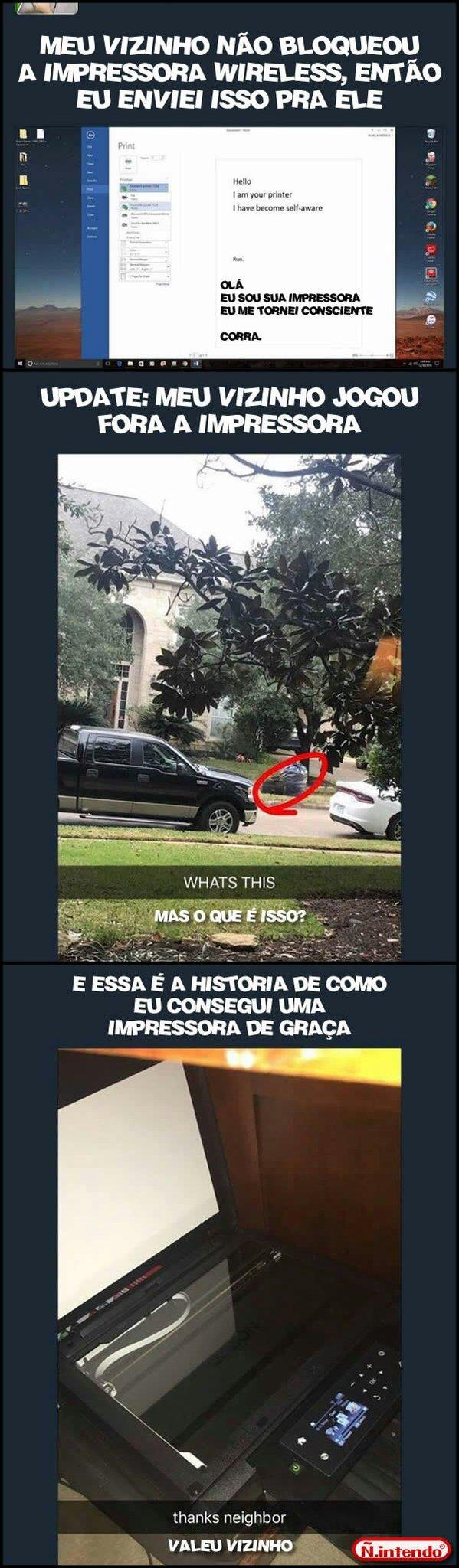IMPRESSORA DE GRAÇA! - meme