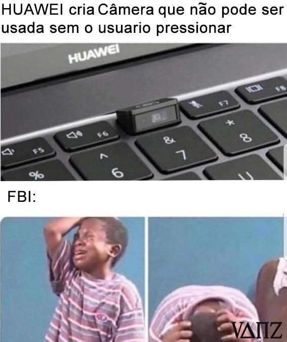 Dar aquela gozada na camera pra trollar o agente do FBI - meme