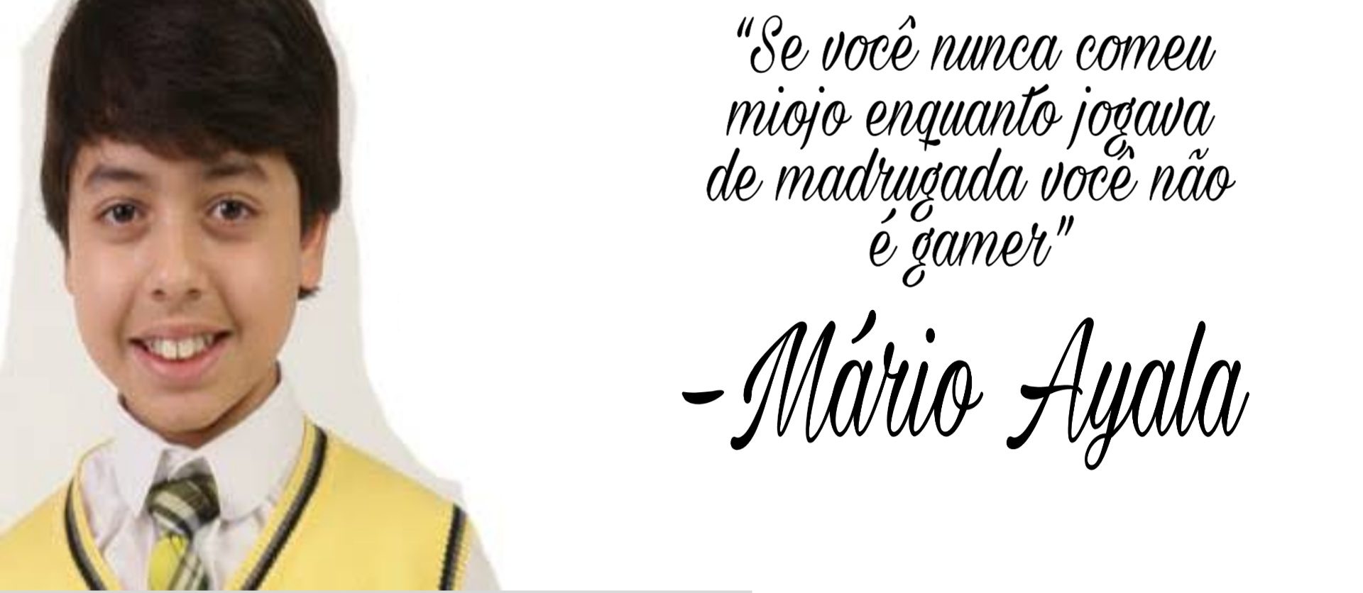 Mario ayala falou (Nescau putaum, positiva ae consagrado) - meme