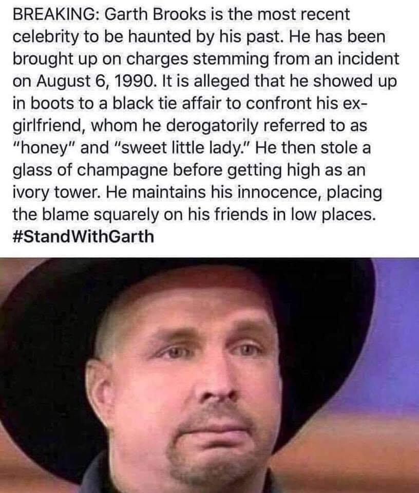 #StandwithGarth - meme