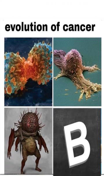 Evolution of cancer - meme