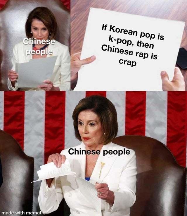 If Korean pop is K-pop, then Chinese Rap is crap - meme