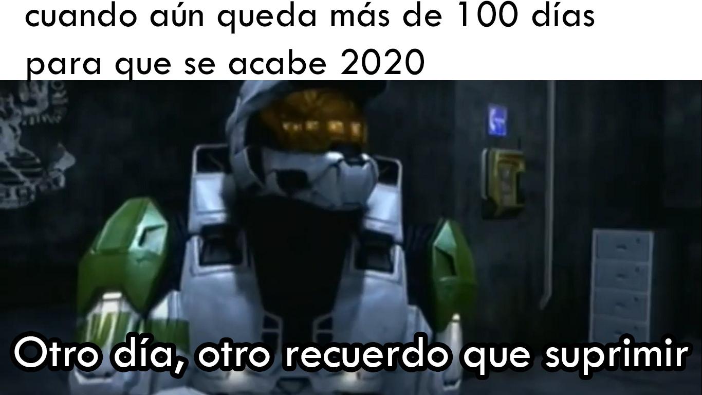 Cuando aún tienes que vivir otro día de 2020 - meme