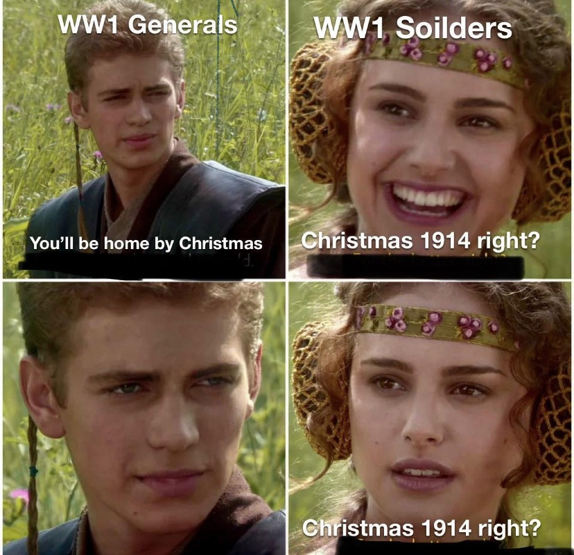 World War 1 In the Western front - meme
