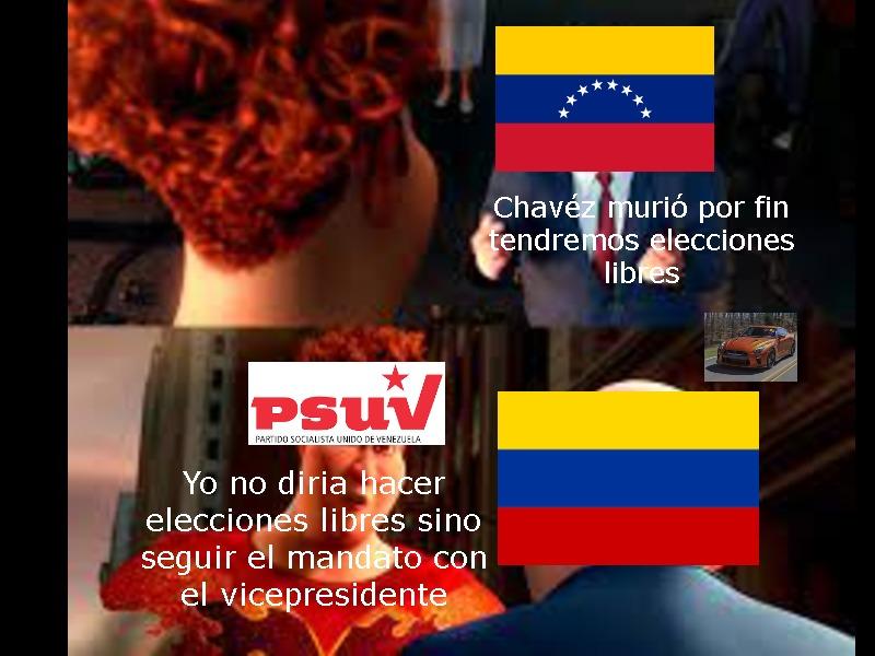 resumen de cuando Chavez murio y el PSUV puso a Maduro como viceprensidente - meme