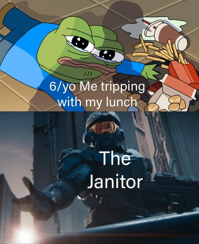Awesome janitor - meme