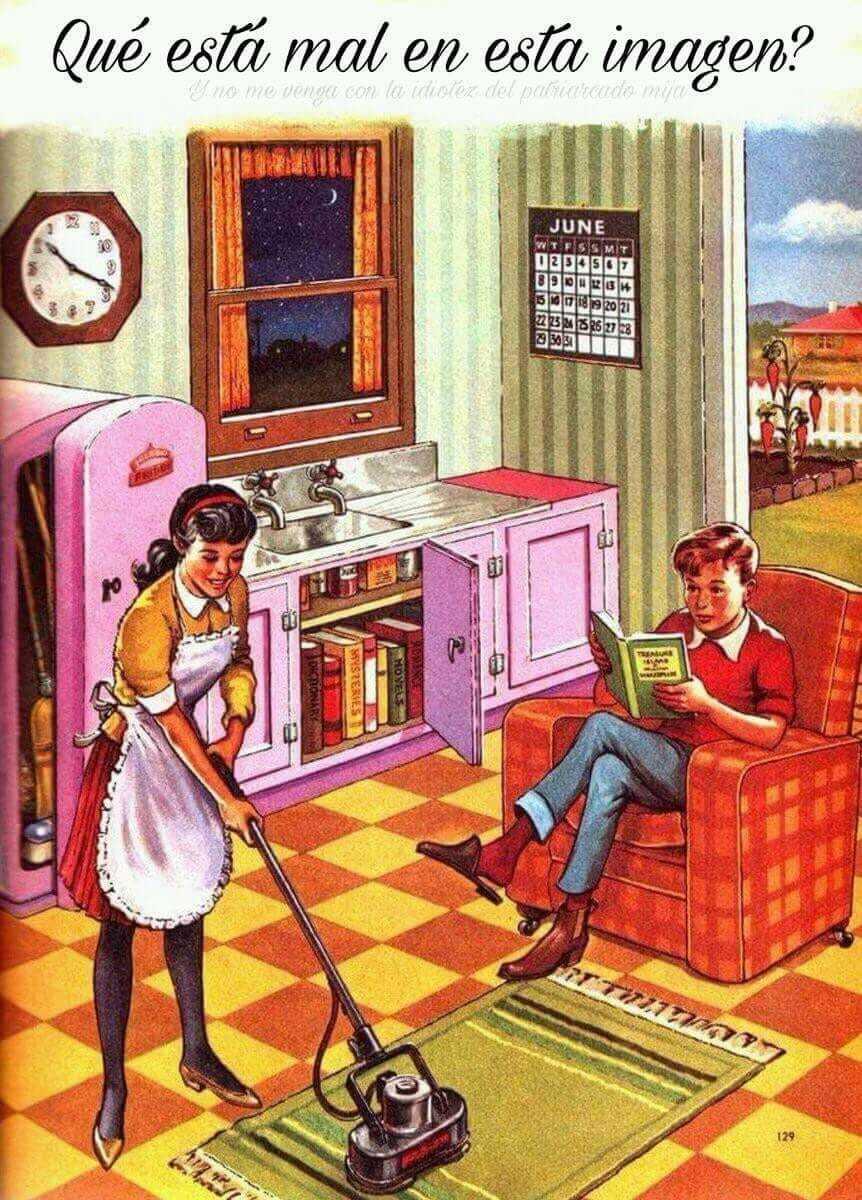 Y no me vengan con que la mujer deberia estar cocinando - meme